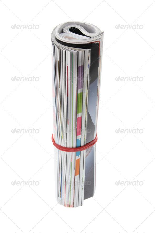 Rolled-Up Magazine - Stock Photo - Images