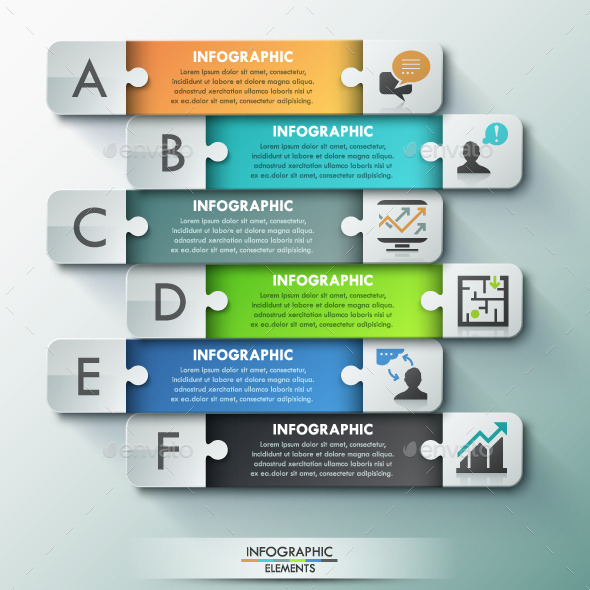 Modern Infographic Puzzle Template