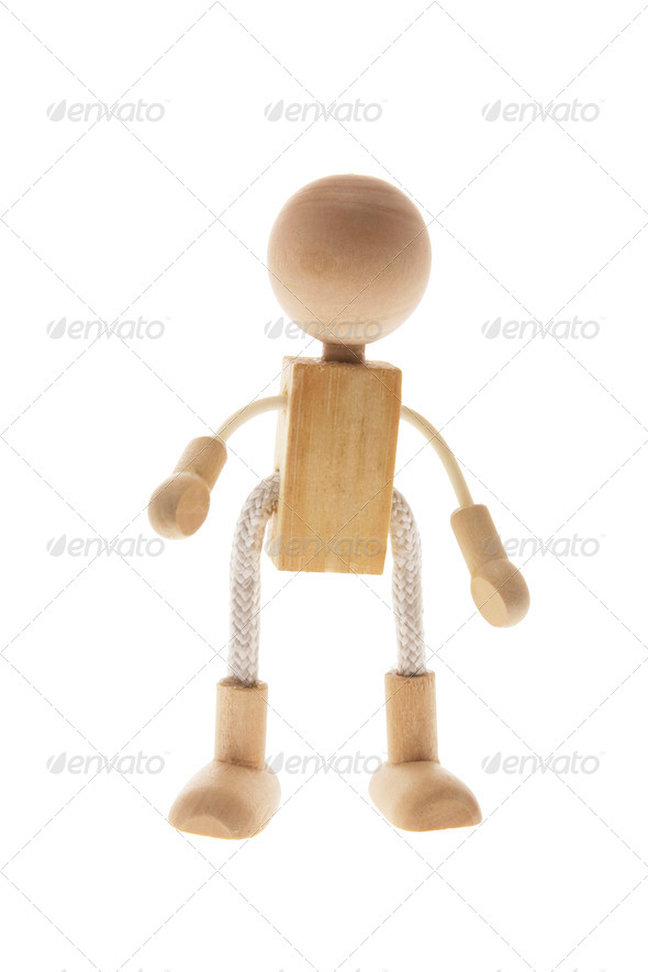 Wooden Child Figure - Stock Photo - Images