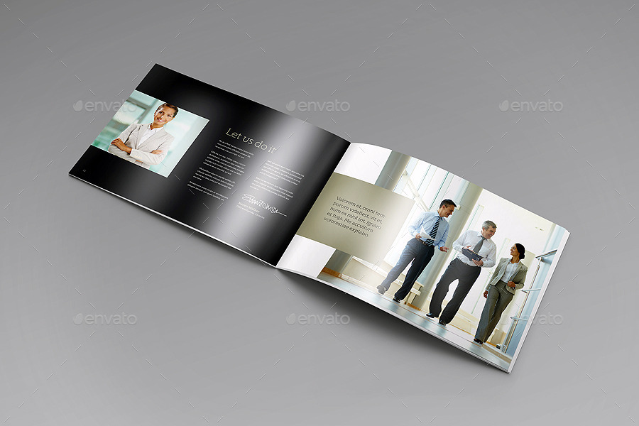 Landscape Brochure Mock-Up Set by 89PixeL | GraphicRiver