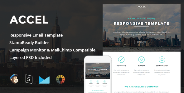 accel responsive email stampready builder by levelii themeforest. Black Bedroom Furniture Sets. Home Design Ideas