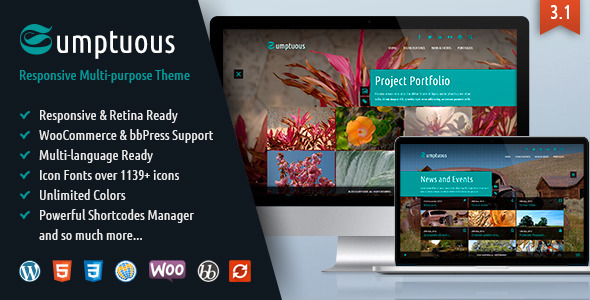 Sumptuous – Responsive Multi-purpose Theme