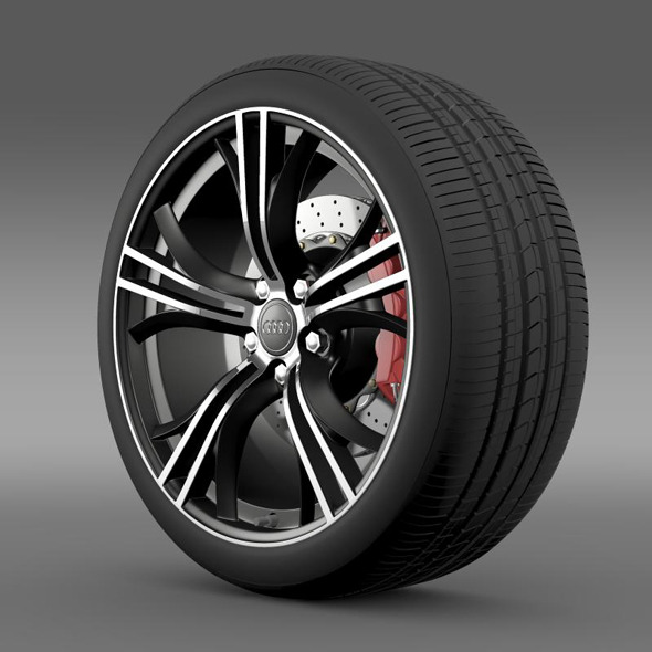 Audi R8 Exclusive wheel - 3DOcean Item for Sale