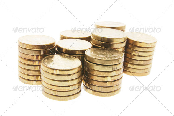 Stacks of Coins - Stock Photo - Images