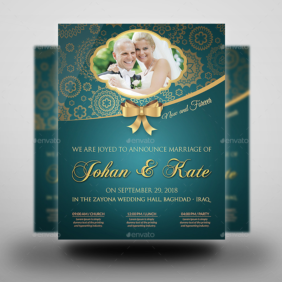 Wedding Party Flyer Template Vol2 by OWPictures – Wedding Flyer