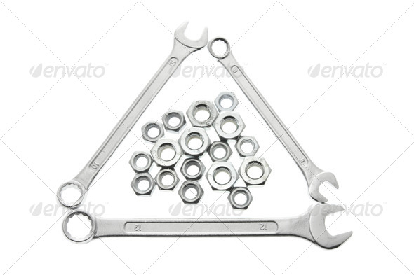 Spanners and Nuts - Stock Photo - Images