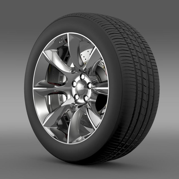 Dodge Challenger SRT wheel - 3DOcean Item for Sale