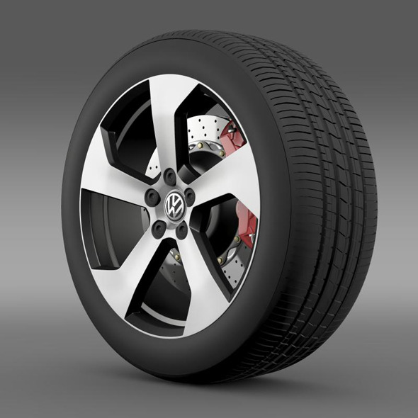 Volkswagen Golf GTI wheel - 3DOcean Item for Sale