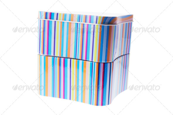 Striped Tin Boxes - Stock Photo - Images