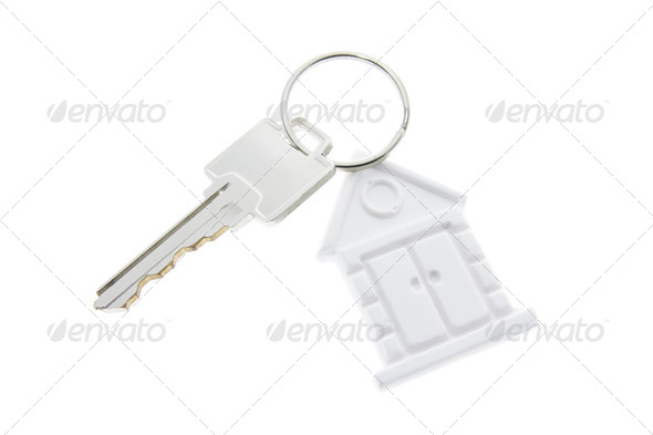 House Symbol Key Ring - Stock Photo - Images
