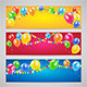 Holiday Banners with Balloons - GraphicRiver Item for Sale
