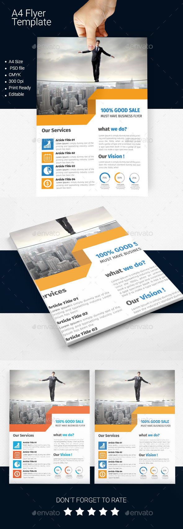 A4 Business Flyer Template 08 - Corporate Flyers