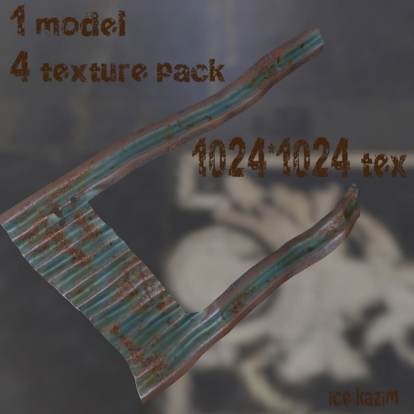 Roof_4 - 3DOcean Item for Sale