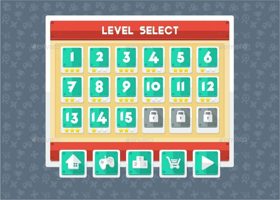 Minimalist Game GUI by pzUH | GraphicRiver