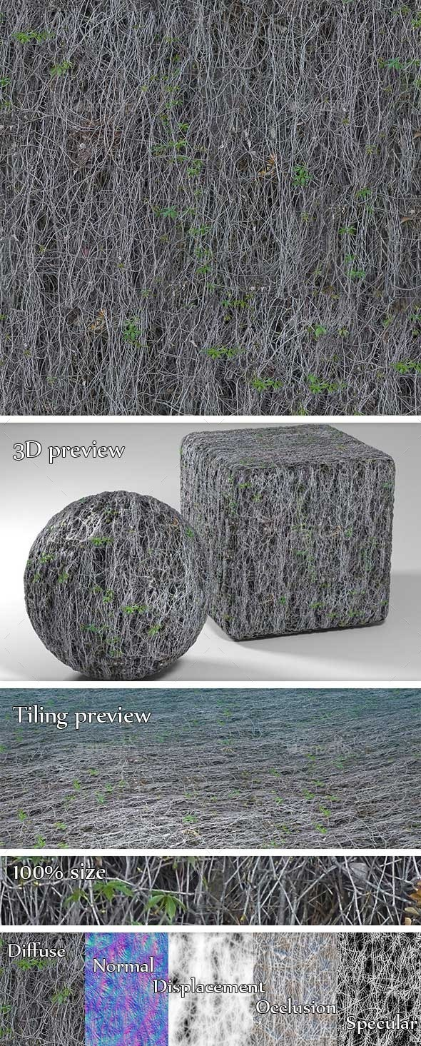 Dead Ivy Seamless Texture - 3DOcean Item for Sale