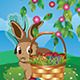Easter Bunny with Eggs in the Basket - GraphicRiver Item for Sale