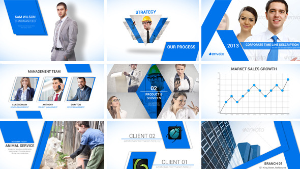 clean corporate templatedollarhunter | videohive, Powerpoint templates