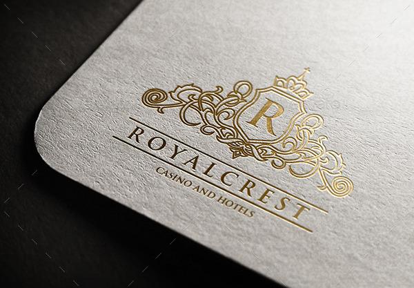 royal crest hotels and casino logo by keenarstudio