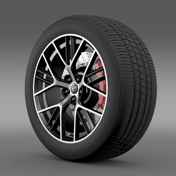Toyota GT 86 concept wheel - 3DOcean Item for Sale