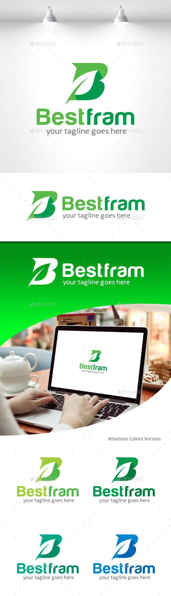 Letter B Logo - Leaf - Letters Logo Templates