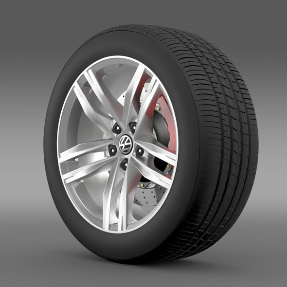 Volkswagen Golf TDI wheel - 3DOcean Item for Sale
