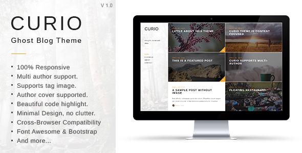 Curio – Responsive Minimal Ghost Theme