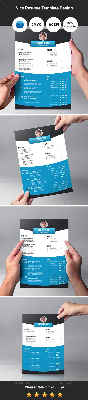 nice resume template design by graphicsdesignator graphicriver