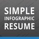Simple Infographic Resume - GraphicRiver Item for Sale