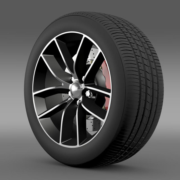 Dodge Challenger 392 wheel 2015 - 3DOcean Item for Sale