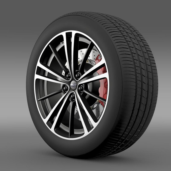 Subaru BRZ wheel 2013 - 3DOcean Item for Sale