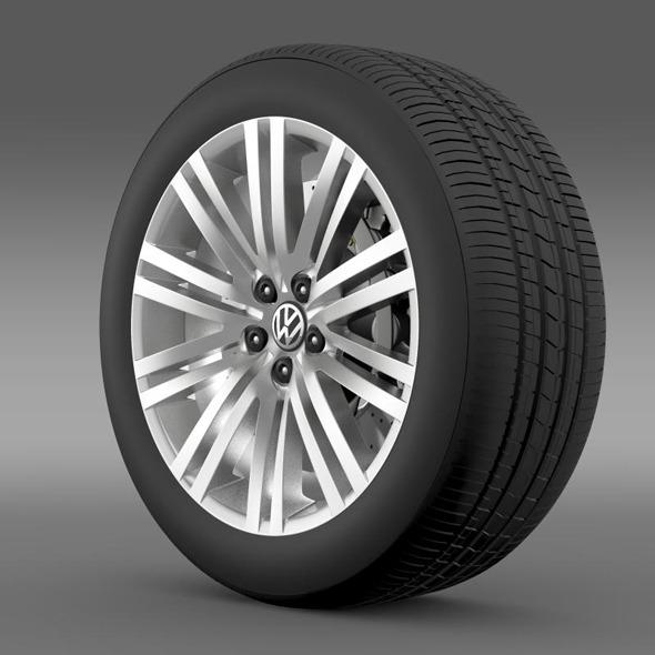 Volkswagen Polo BlueGT wheel 2014 - 3DOcean Item for Sale