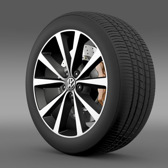 Volkswagen Polo wheel 2014 - 3DOcean Item for Sale