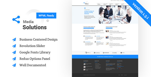 Media Solutions – Business WordPress Theme
