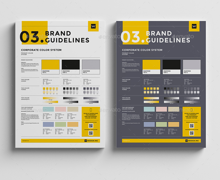 Brand Manual Template  Colors By Egotype  Graphicriver