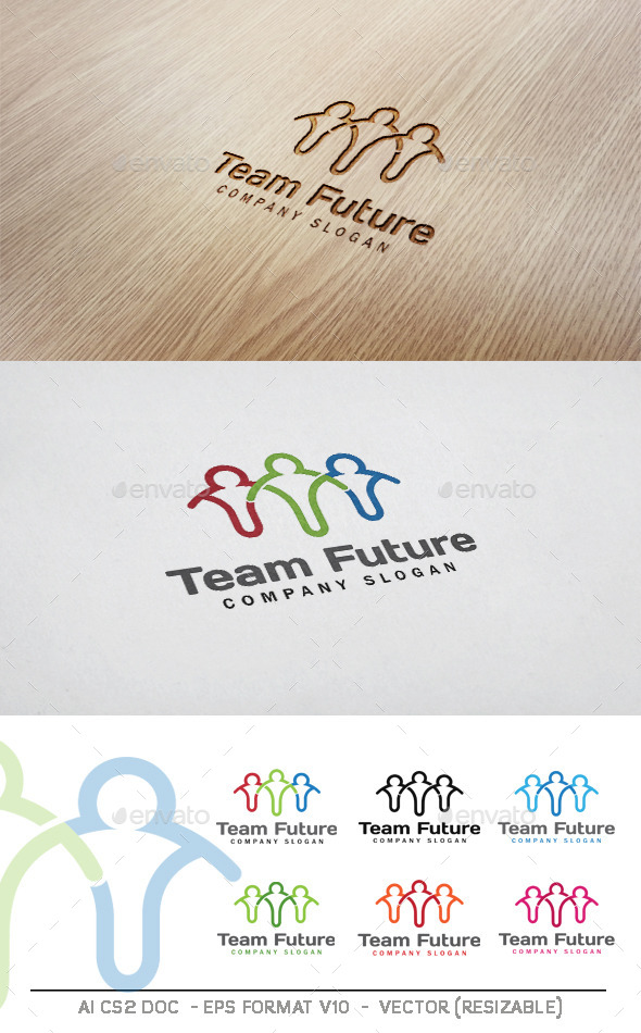 Team Future Logo - Humans Logo Templates