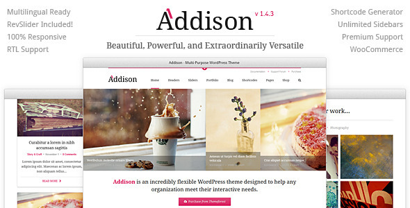 Addison - Premium Multi-Purpose WordPress Theme
