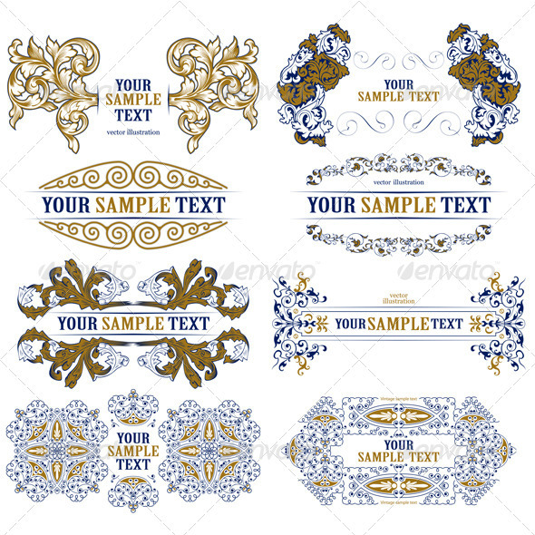 Set of Decorative Design Borders - Borders Decorative