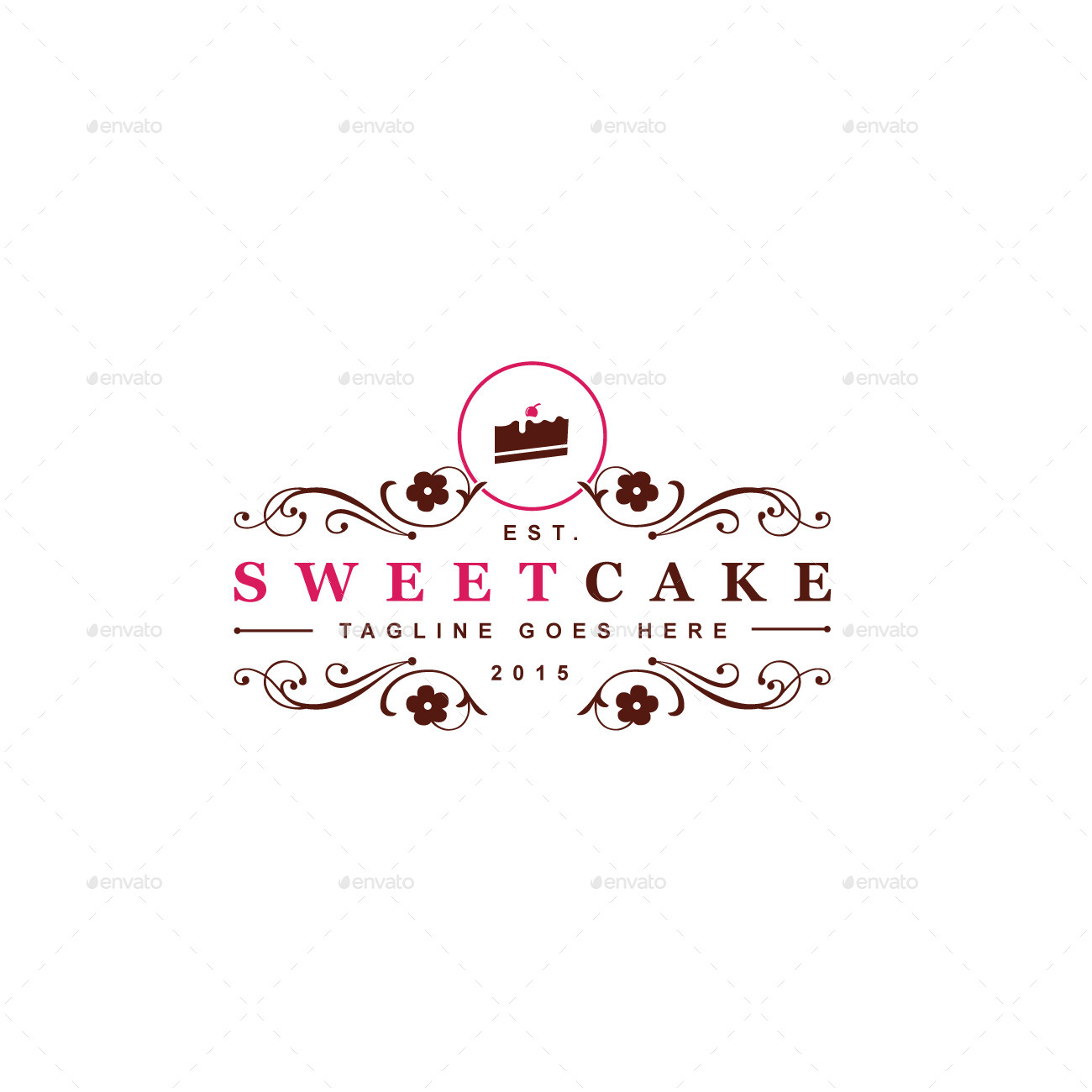 Cake Logo Design Psd : Sweet Cake Logo Template by designgarrad GraphicRiver