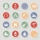 Round Camping Icons Set - GraphicRiver Item for Sale