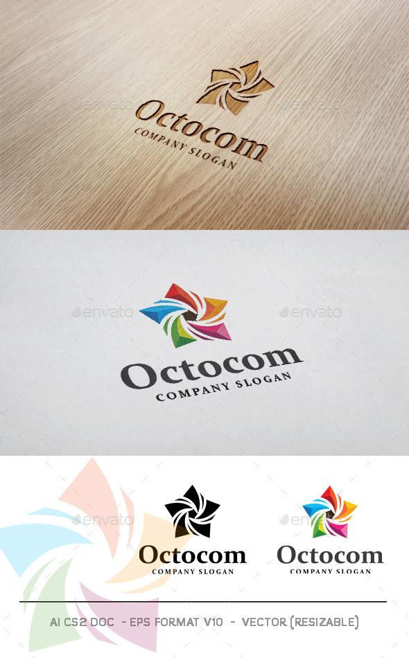 Octocom Logo  - Symbols Logo Templates