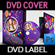 Birthday Party DVD Cover and DVD Label Template 3