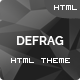 Defrag - One Page Personal - Portfolio HTML Nulled