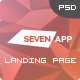 Seven App - One Page App Landing Page - ThemeForest Item for Sale