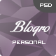 Blogro - One page Personal web design - ThemeForest Item for Sale