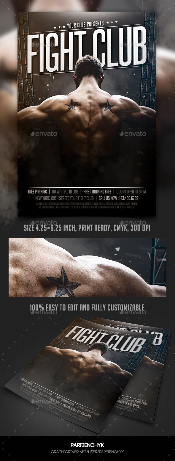 Fight Club Flyer Template - Clubs & Parties Events