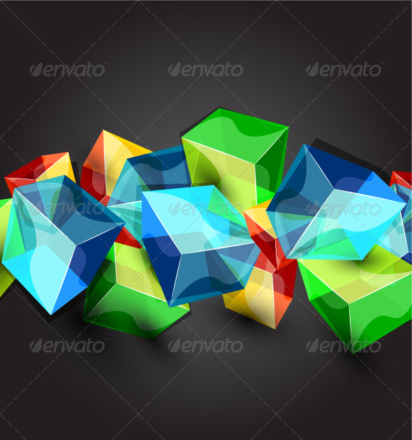 Glass Cubes Background - Backgrounds Business