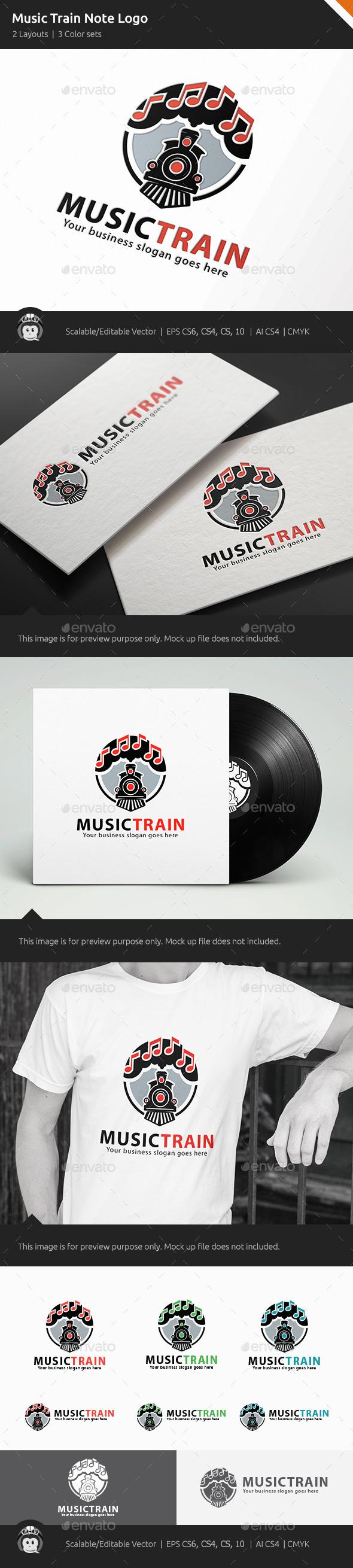 Music Train Note Logo