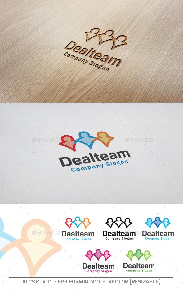 Deal Team Logo - Humans Logo Templates