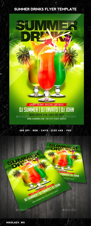 Summer Drinks Flyer