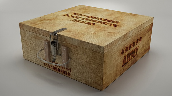 Grenade Box - 3DOcean Item for Sale